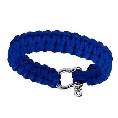 Сървайвър гривна с стоманена закопчалка - синя