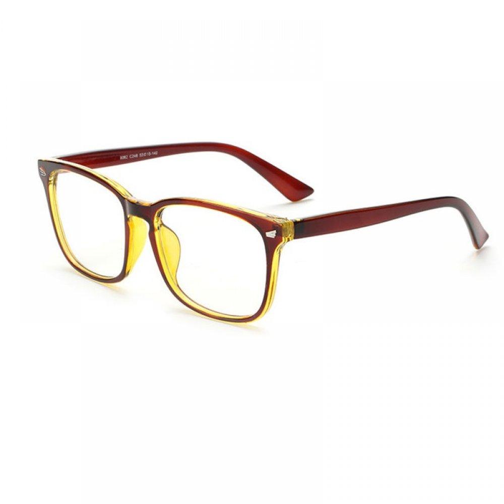 Кафяви очила с дискретен метал на рамките