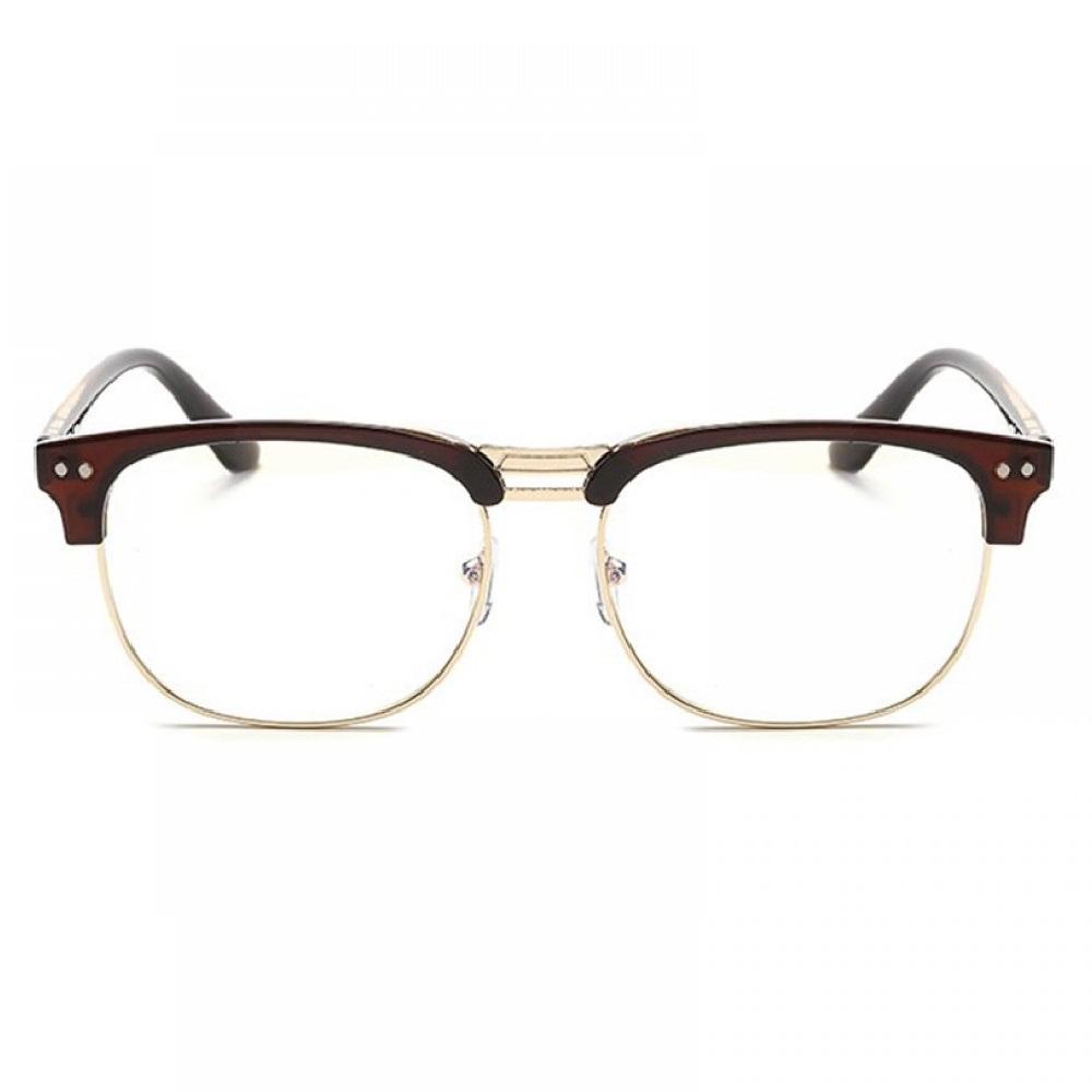 Кафяви очила вежди с прозрачни стъкла