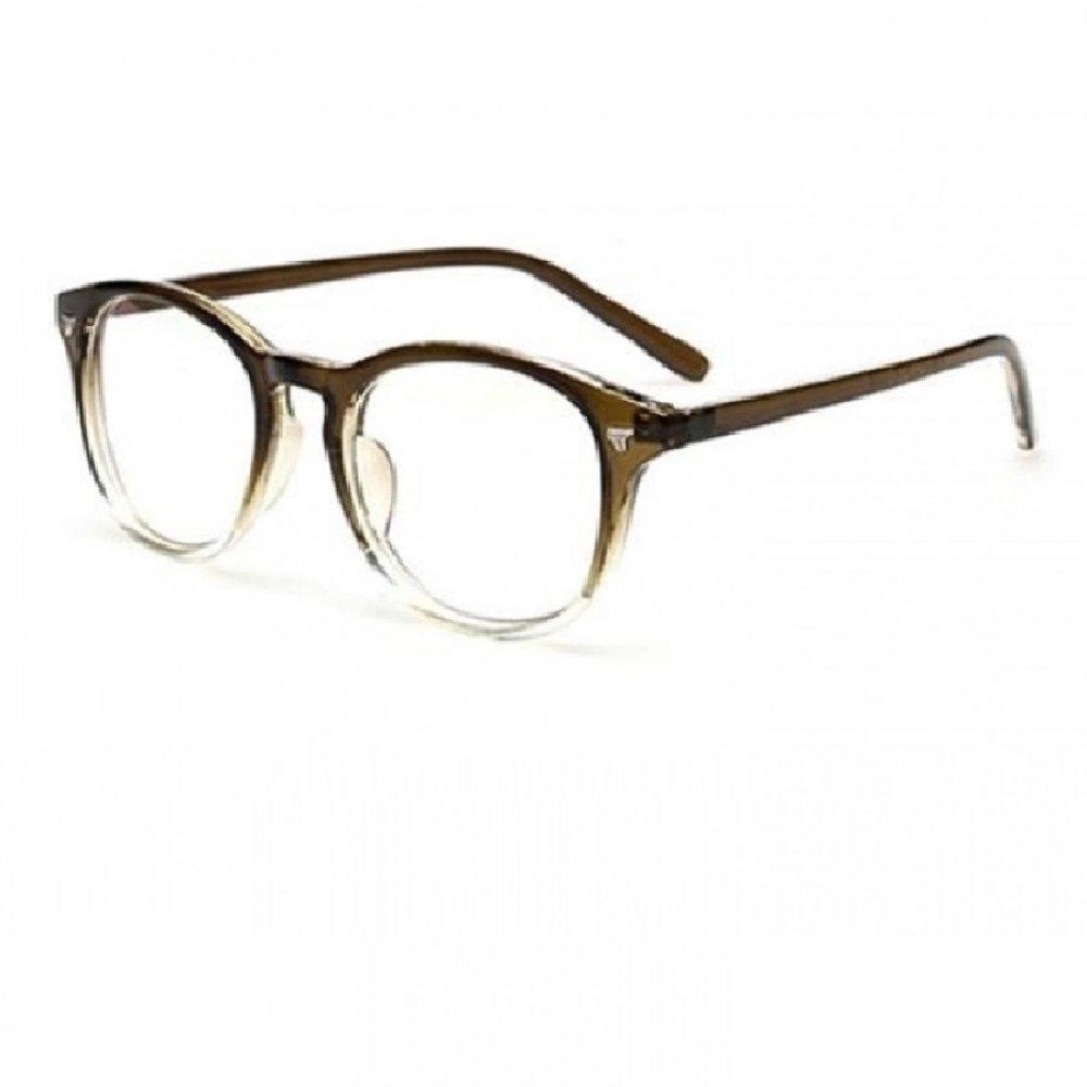 Кафяви пластмасови очила без диоптър