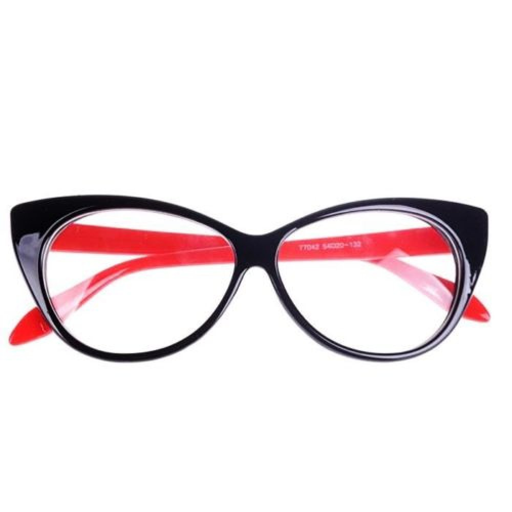 Котешки очила в червено и черно