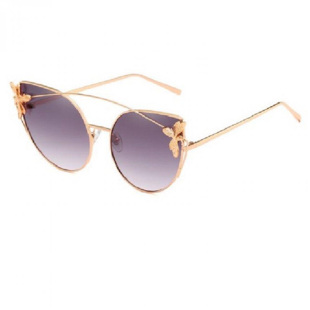 Котешки златни очила с муха