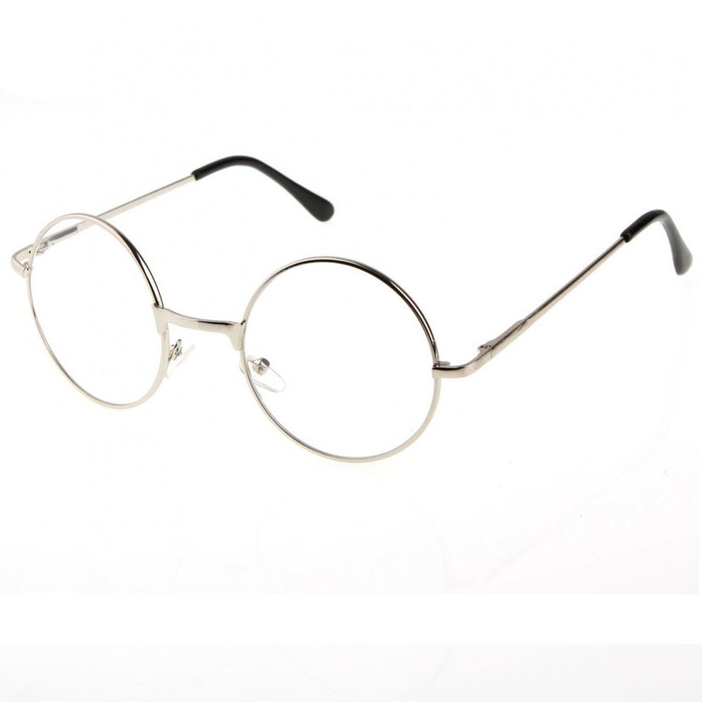 Кръгли очила с прозрачни стъкла