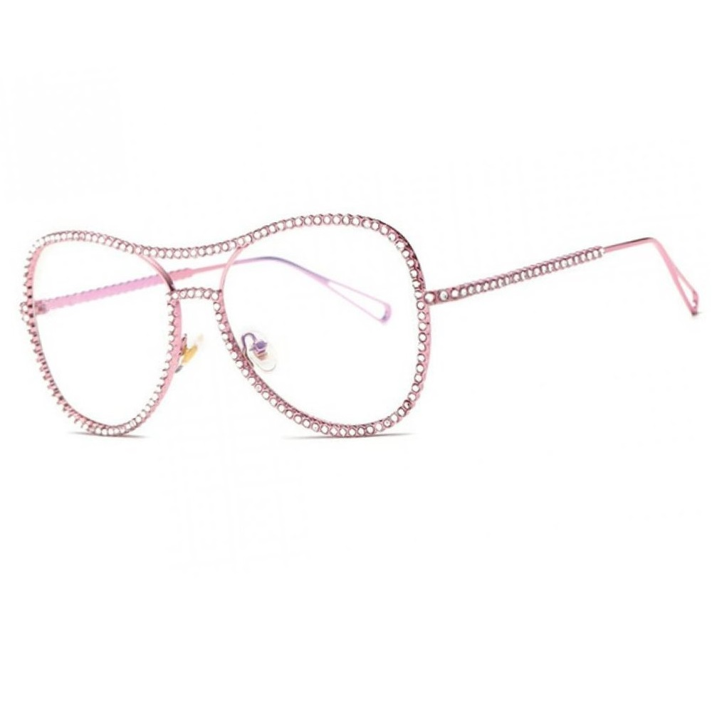 Кристални розови очила