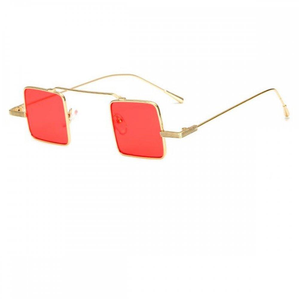 Квадратни очила с червени стъкла