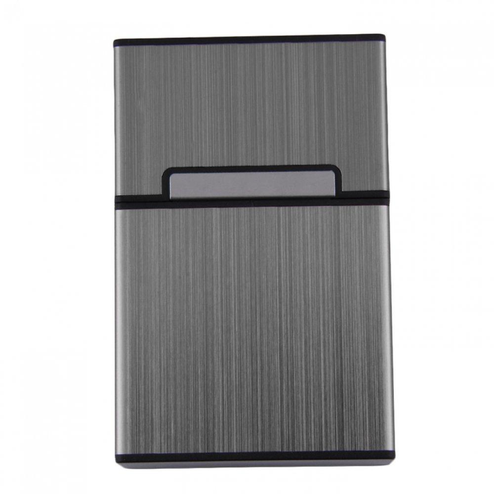 Луксозна кутия за цигари в сив десен