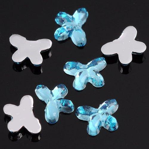 Декоративни пеперуди за нокти 2 милиметра нежно сини