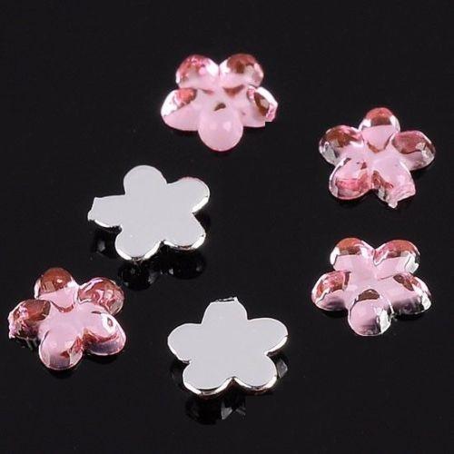 Декоративни цветчета за нокти 2 милиметра нежно розови