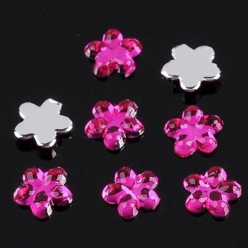Декоративни цветчета за нокти 2 милиметра тъмно розови