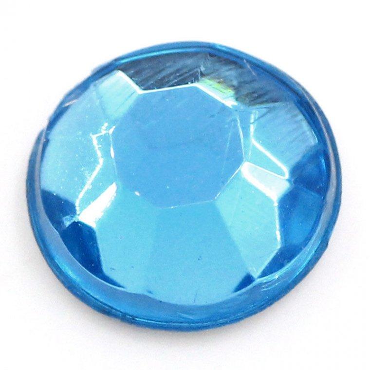 Голям кръгъл камък за нокти в синьо