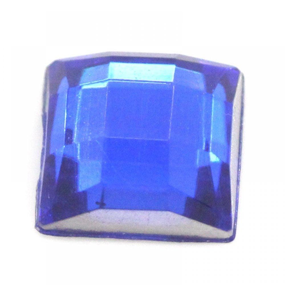 Голям квадратен камък за нокти в синьо