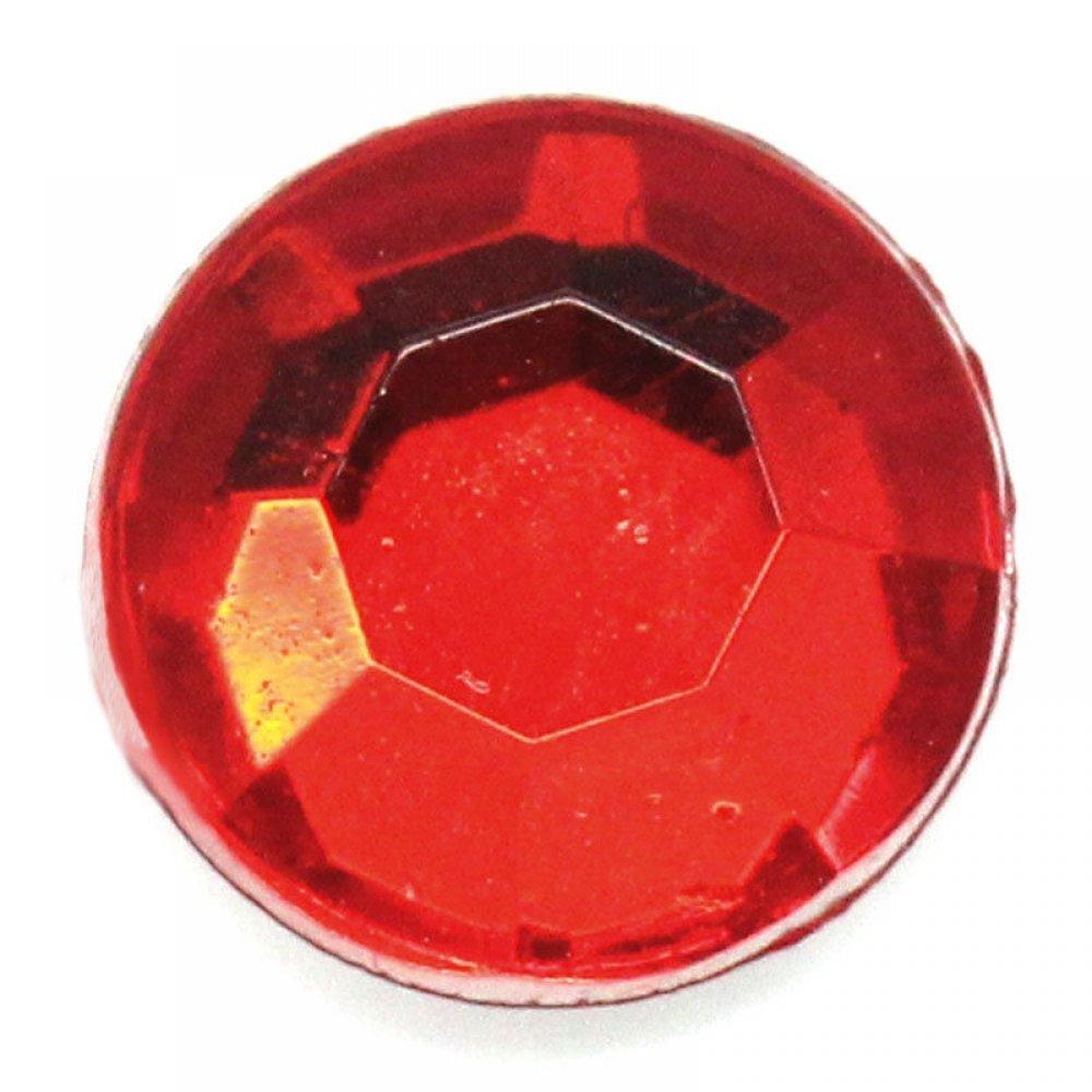 Голям кръгъл камък за нокти в червено