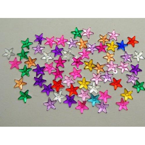 Акрилни звездички за декорация на нокти 6 милиметра