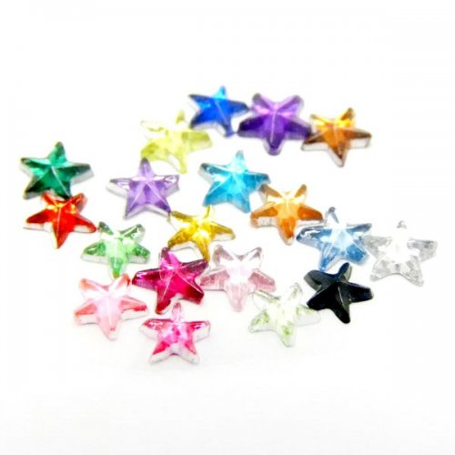 500 броя кристални звездички за нокти