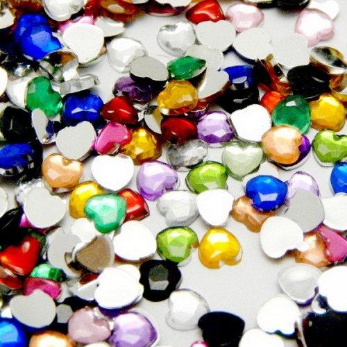500 броя кристални сърчица за нокти