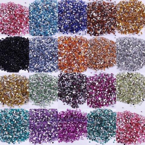 Декоративти кисталчета за маникюр 3 милиметра различни цветове