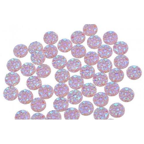 Големи релефни кръгчета за нокти в розово 9,5 милиметра