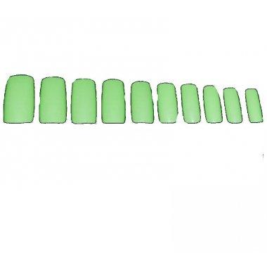 Зелени изкуствени нокти