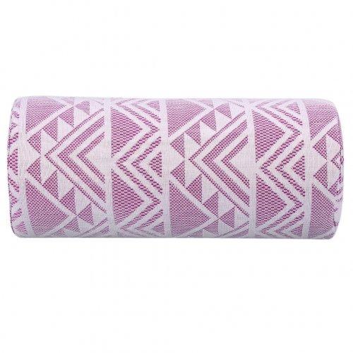 Възглавничка за маникюр в лилаво и бяло