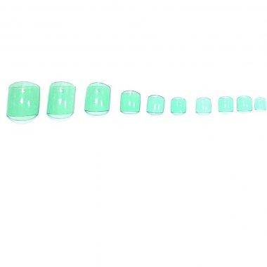 Зелени нокти за педикюр