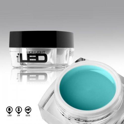 LED гел в синьо