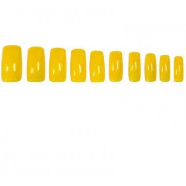 Жълти изкуствени нокти