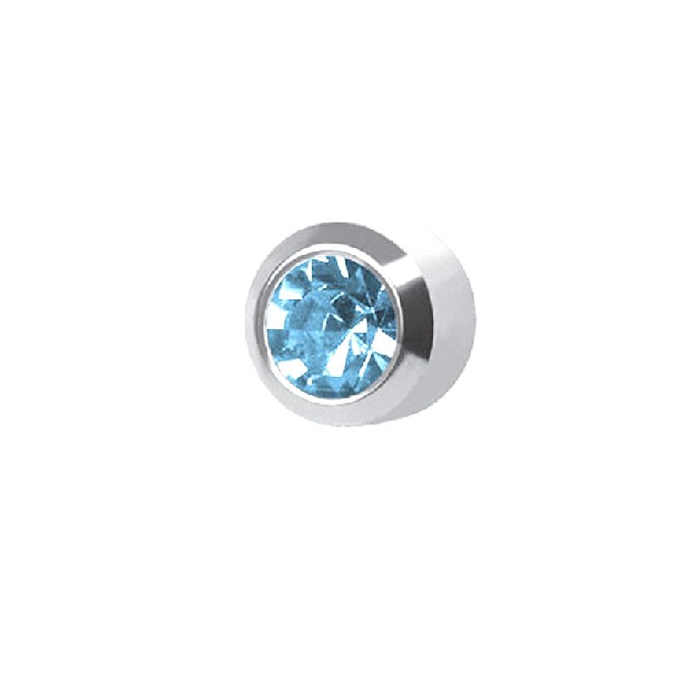 Медицински обеци светло син кристал