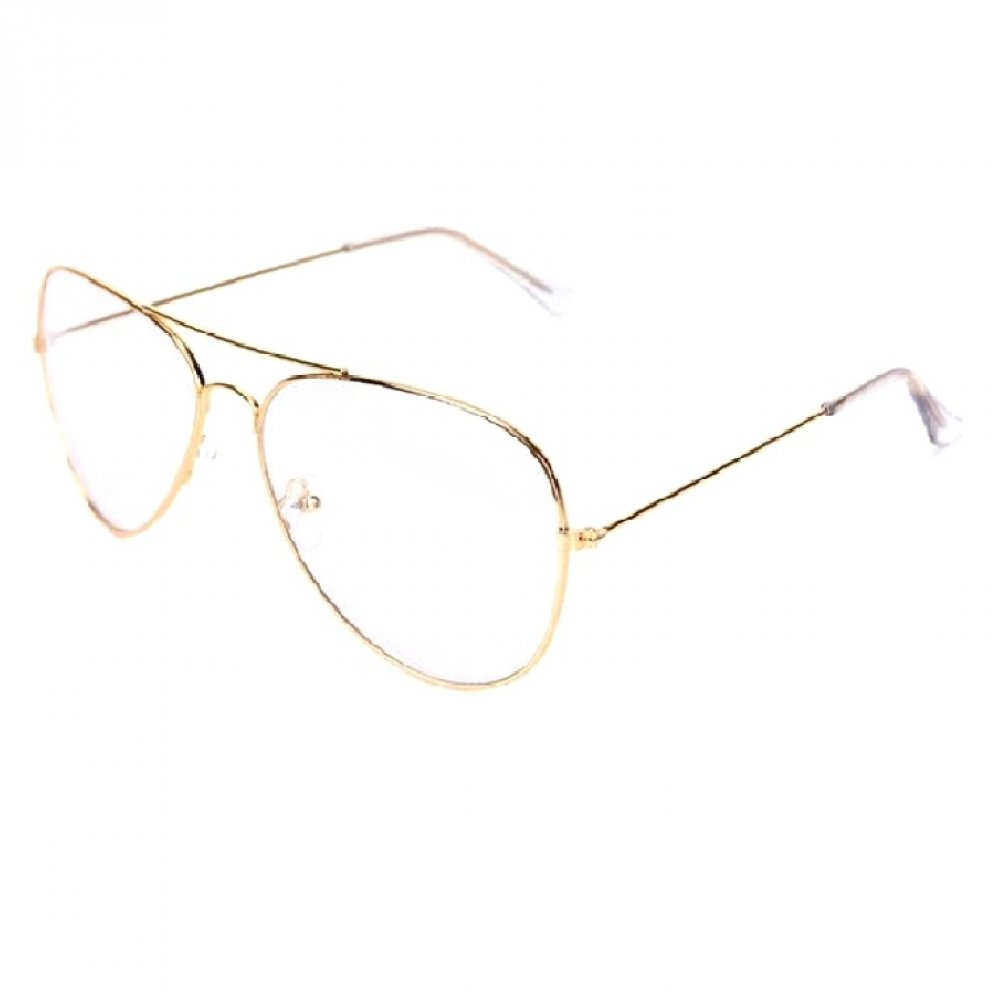 Метални очила бъбрек с прозрачни стъкла