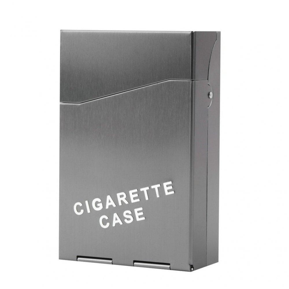 Метално сива кутия за цигари