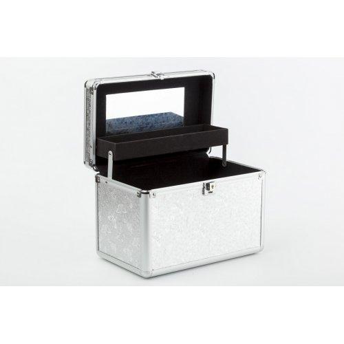Куфар за мигли и грим в сребърно