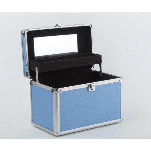 Куфар за мигли и грим в синьо