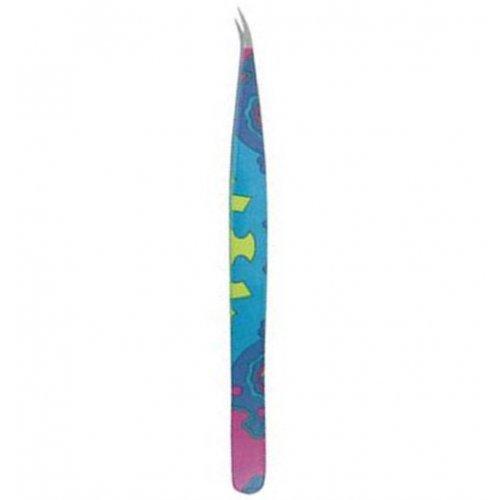 Scissors poitn - закривена, цветна пинцета