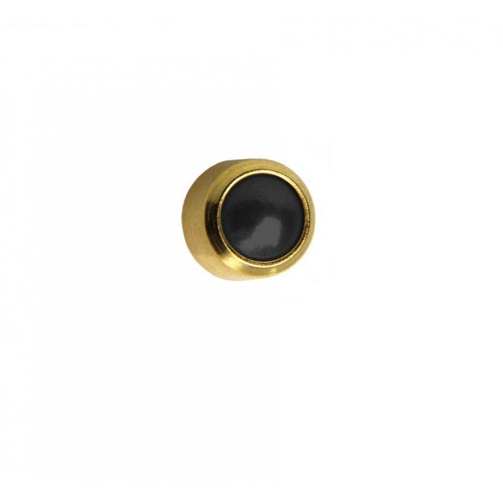 Обеци медицинско злата черен кристал