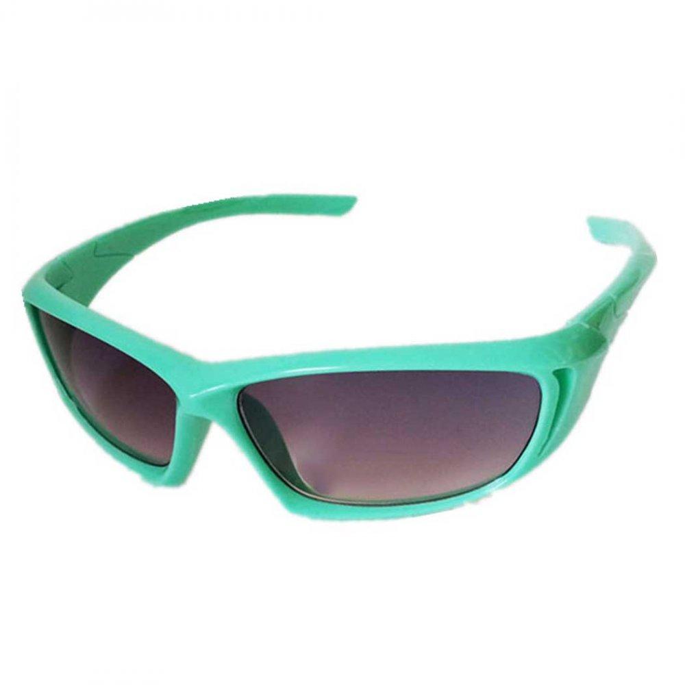 Обтекаеми детски слънчеви зелени очила