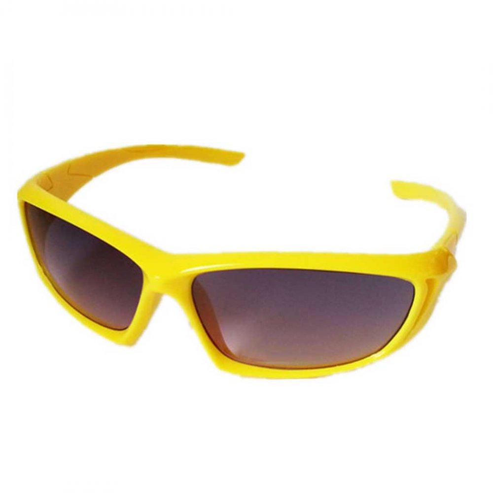 Обтекаеми детски слънчеви жълти очила