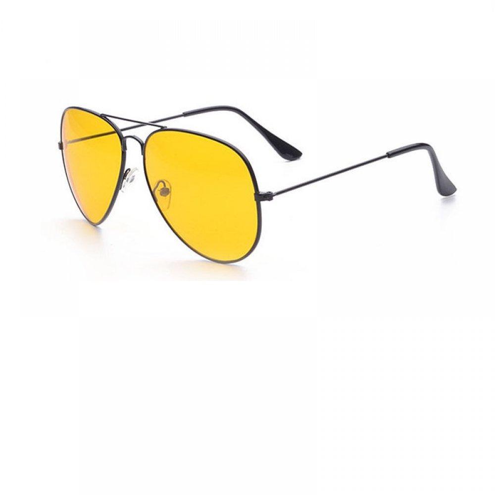 Очила с черна рамка и жълти стъкла