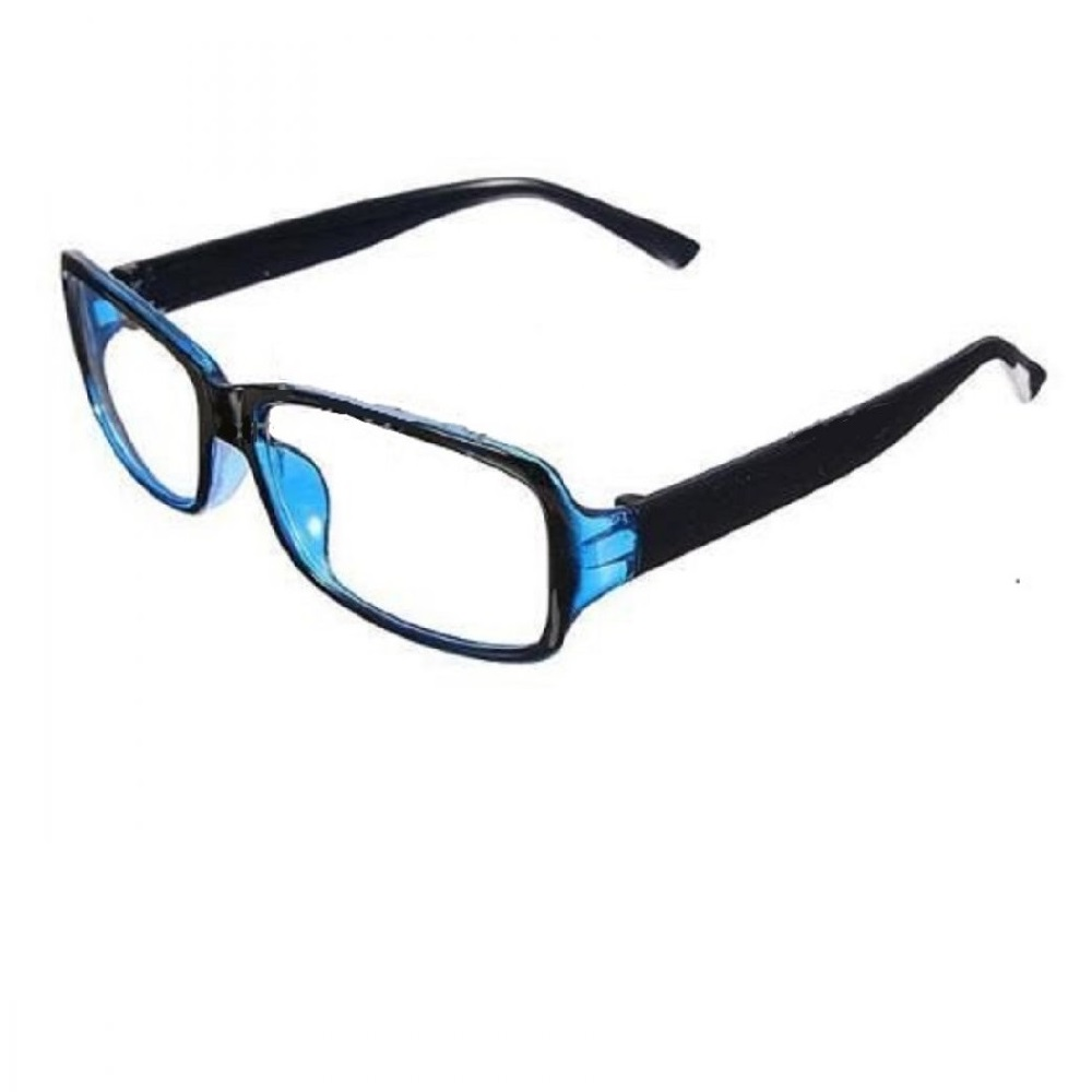 Очила с черна рамка синя предна част