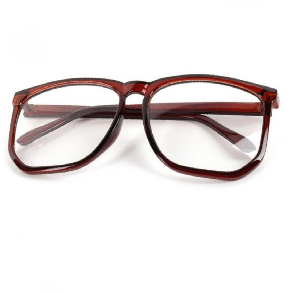 Очила с големи стъкла имитация на рогови рамки