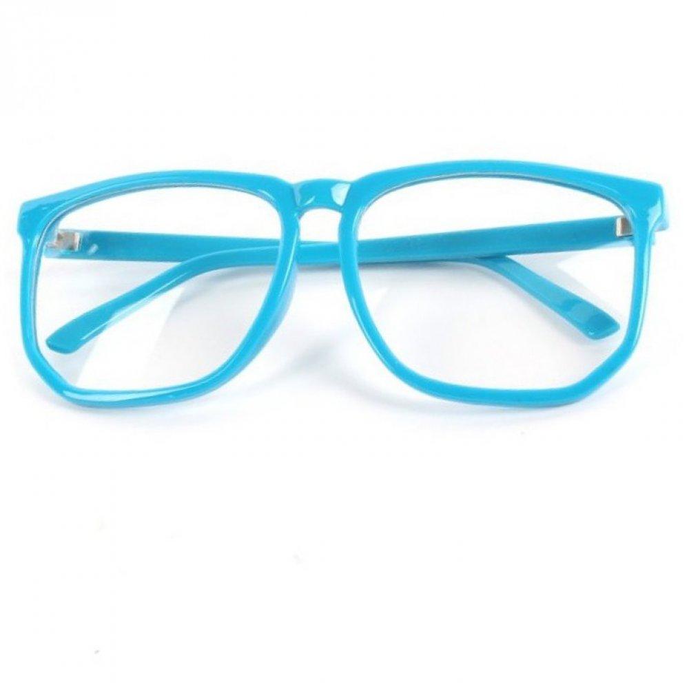 Очила с големи стъкла не чуплива синя рамка