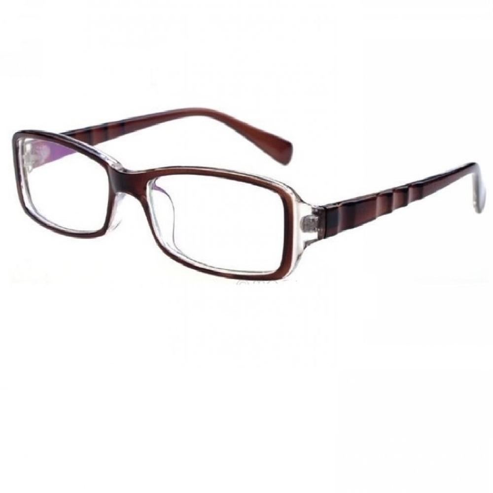 Очила с кафява рамка на вълни