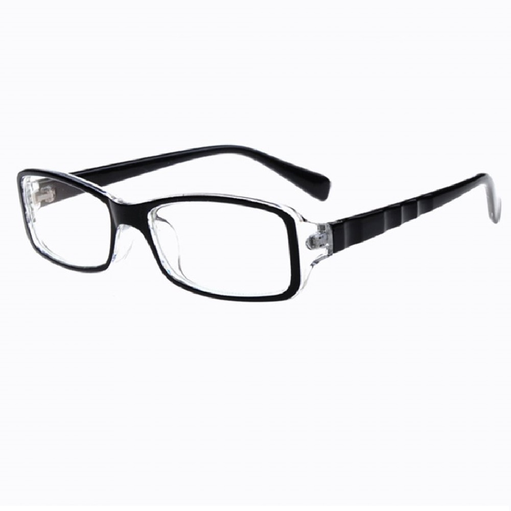 Очила с прозрачна предна рамка и релефни странични