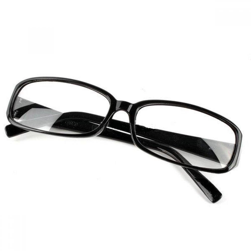 Очила с прозрачни стъкла гладки черни рамки