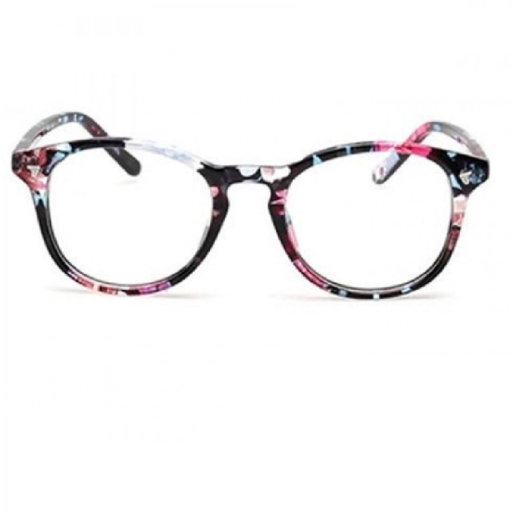 Очила с прозрачни стъкла тънки весели рамки