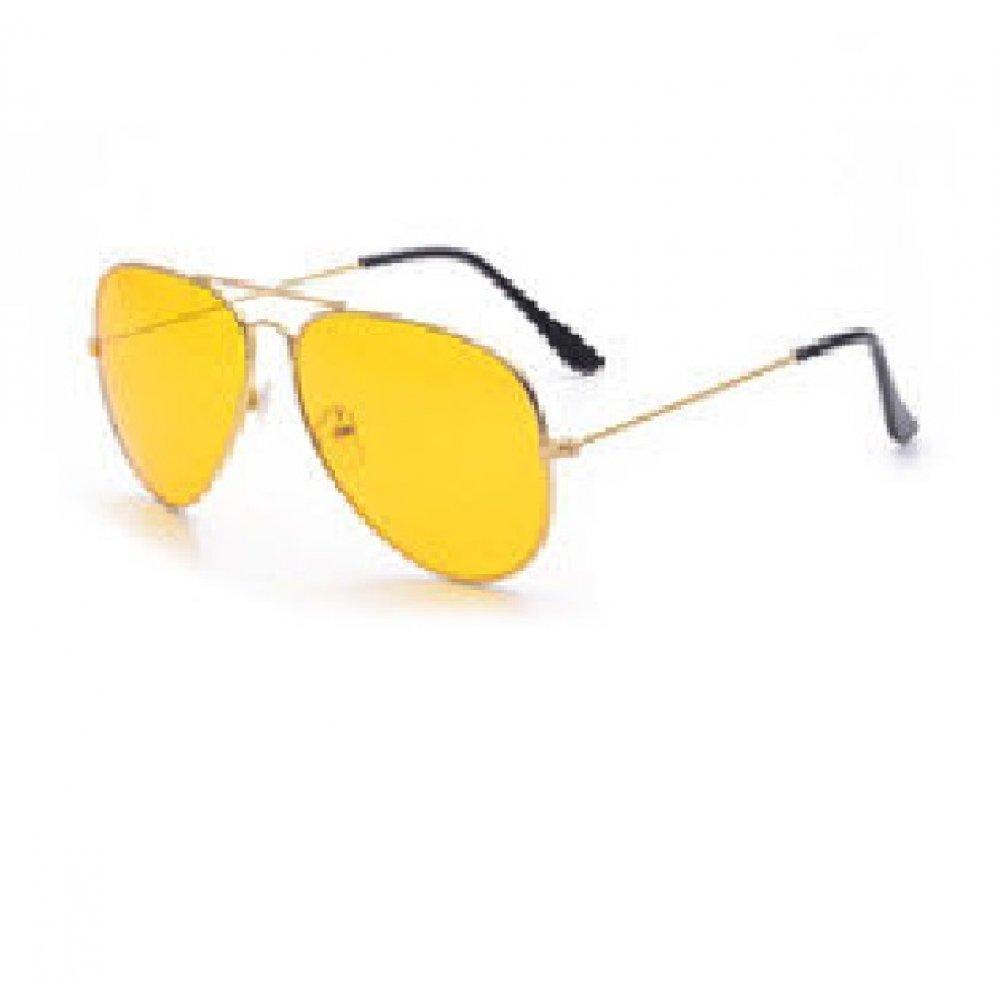 Очила с жълта рамка и стъкла