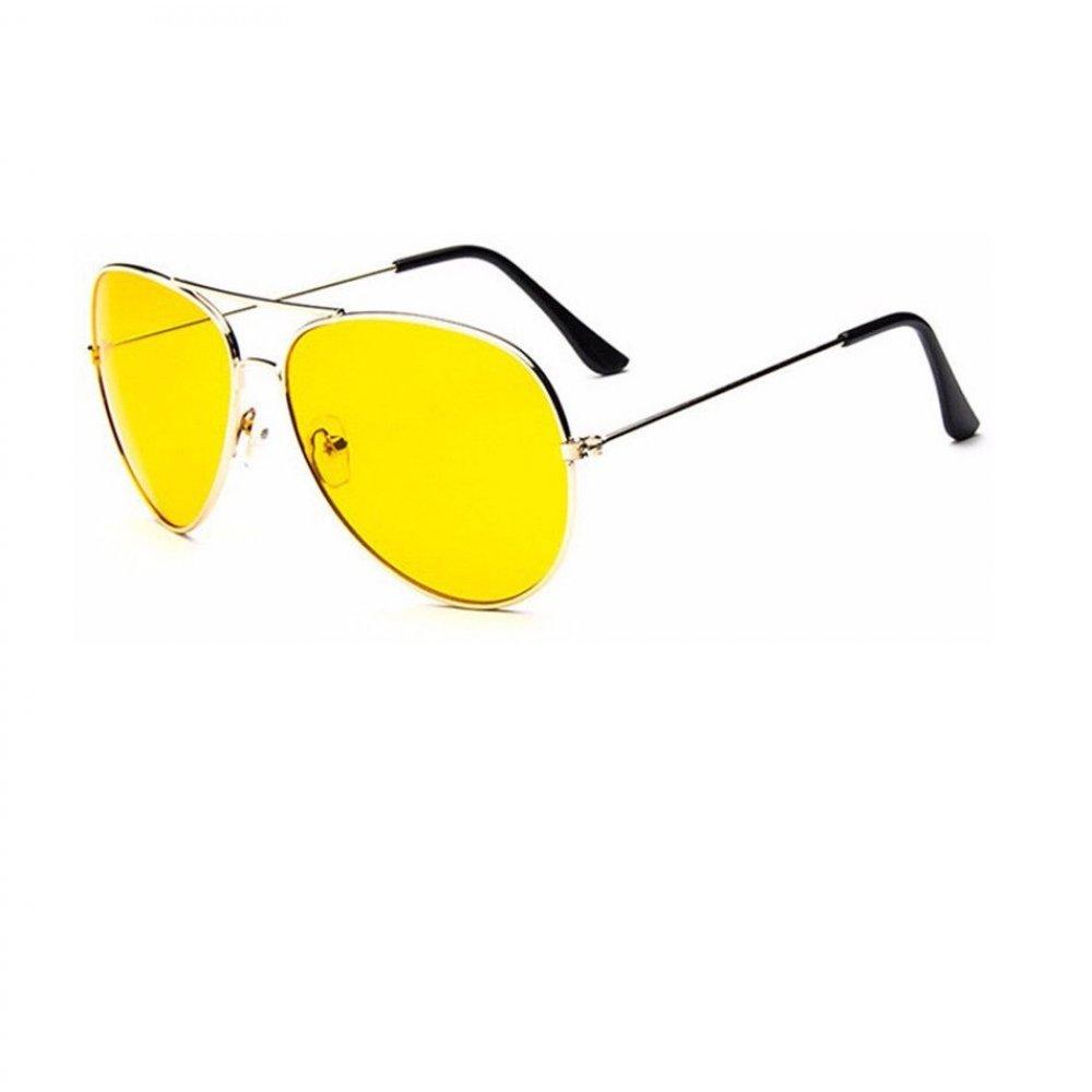 Очила с жълти стъкла и бели рамки