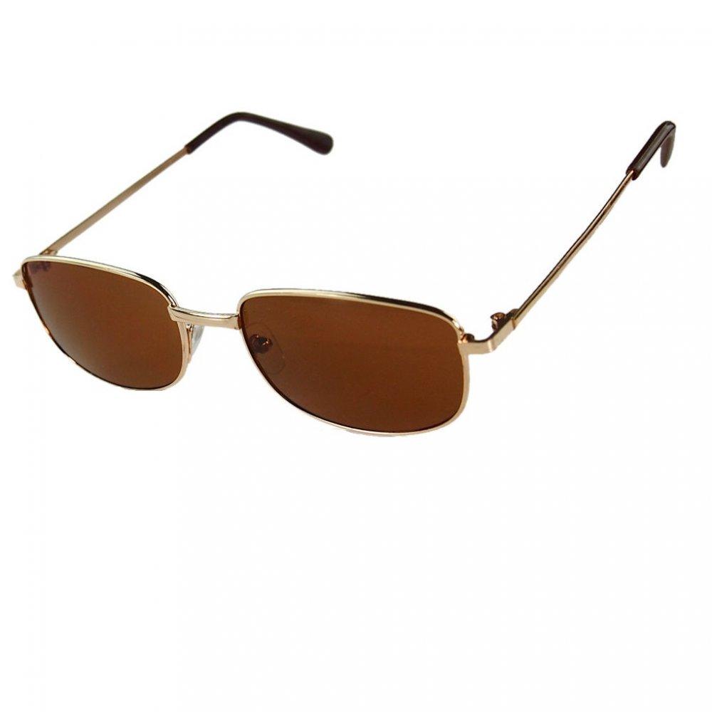 Очила с жълти рамки и кафяви стъкла