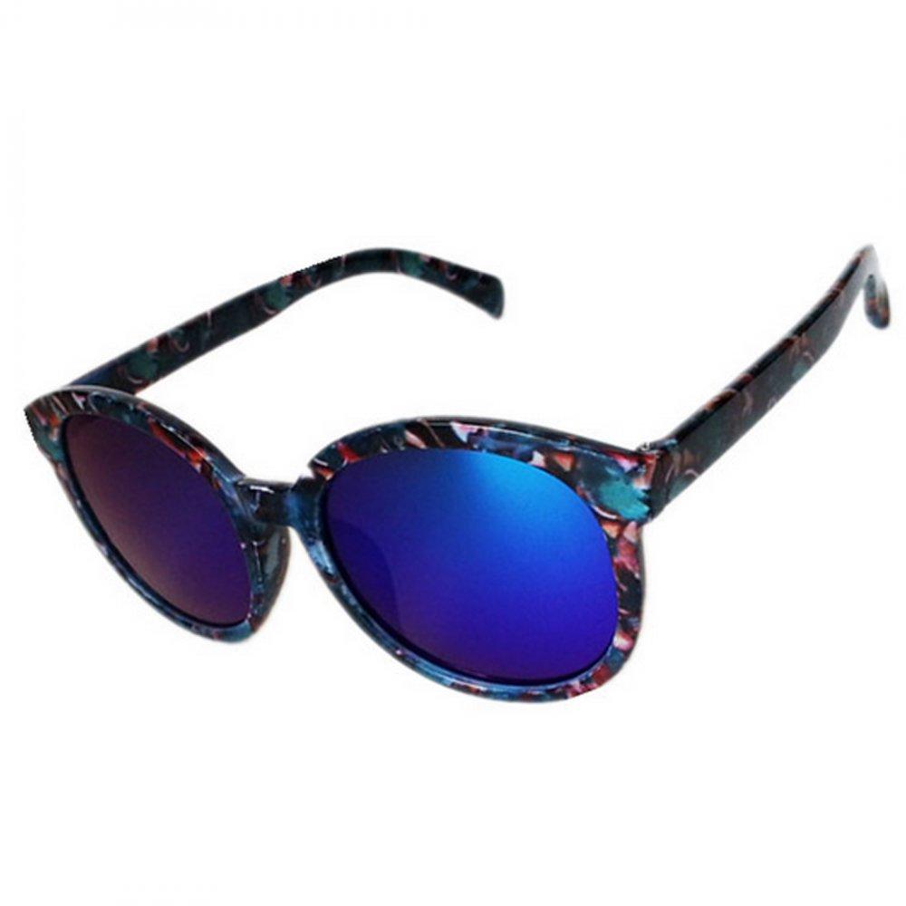 Огледални детски очила тъмно сини стъкла