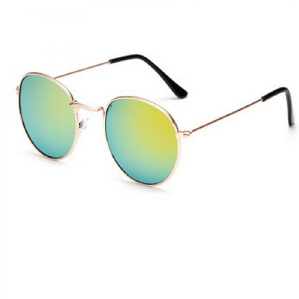 Огледални очила зелено жълто