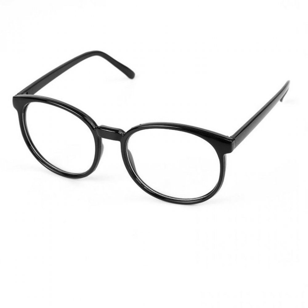 Овал очила с черни рамки