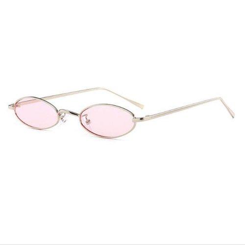Овални очила с розови стъкла